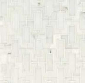 walker zanger fretwork mosaic in calcutta marble