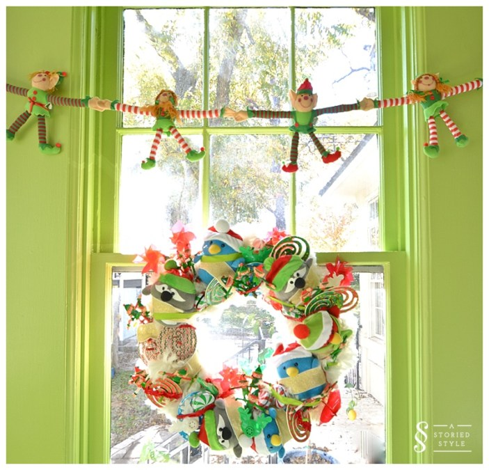 playroom wreath