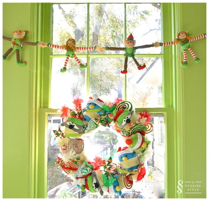 playroom wreath