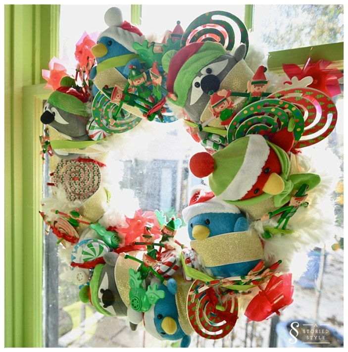 diy party favor wreath