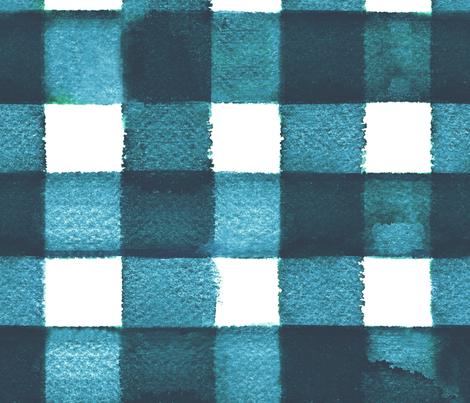 watercolor gingham