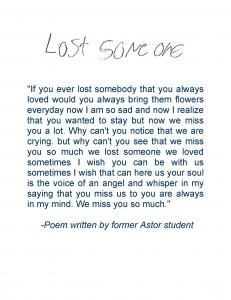 Astor Student Poem