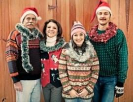 a family at christmas