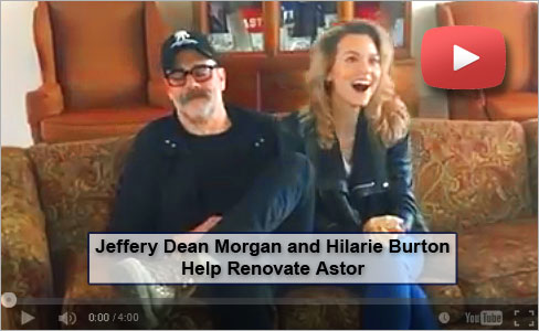[video] Jeffery Dean Morgan and Hilarie Burton Help Renovate Astor