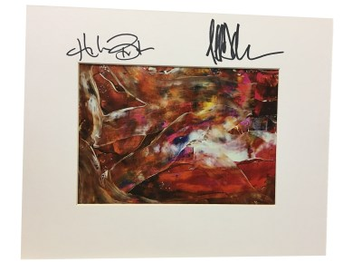 Autographed Orange Swirly Print