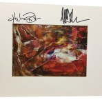 Autographed Orange Swirly Print
