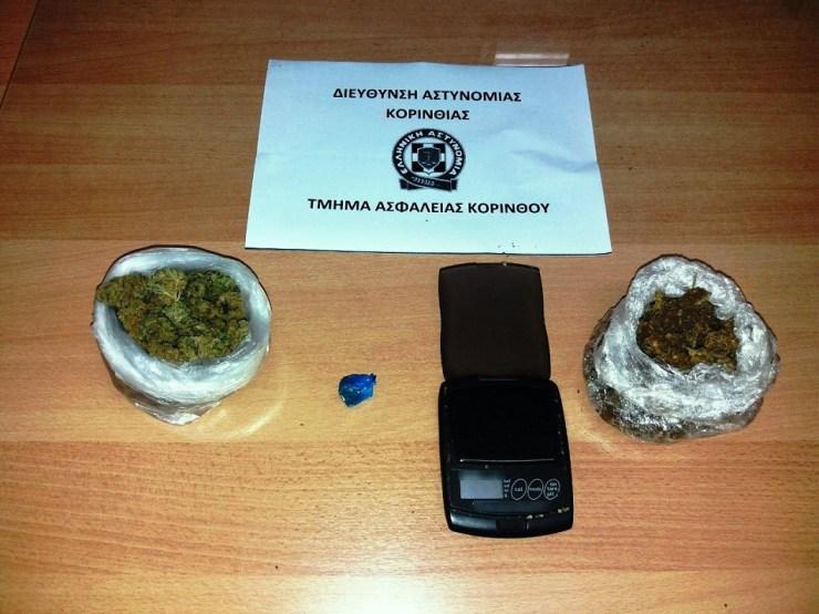 Κορινθία: Συλλήψεις για ναρκωτικά