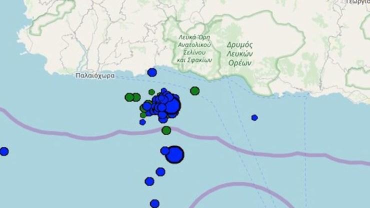 Έντονη η σεισμική ακολουθία στα Χανιά - 9 μικροί σεισμοί σε διάστημα λίγων ωρών