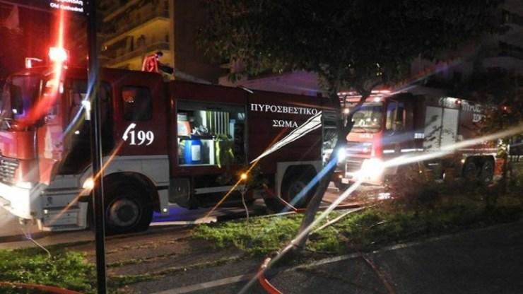 Αναστάτωση από φωτιά σε περίπτερο στο κέντρο των Χανίων