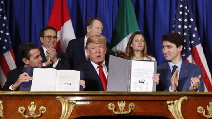 Την Τετάρτη οι υπογραφές για την εμπορική συμφωνία ΗΠΑ-Μεξικού-Καναδά