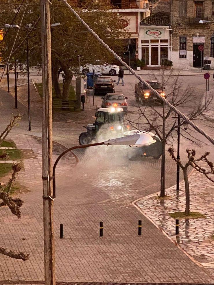 Στη μάχη κατά του κορονoϊού ο δήμος Τεμπών - Απολυμαίνονται κοινόχρηστοι χώροι στα χωριά