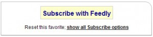 subscribe with feedly