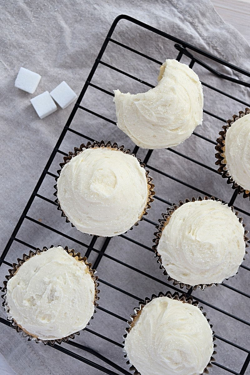 Gluten free Vanilla Cupcakes that are soft and moist with just the right amount of sweetness.... Recipe from A Stray Kitchen