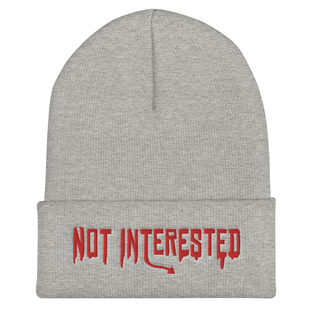 "Featured image for ""Not Interested - Cuffed Beanie"""