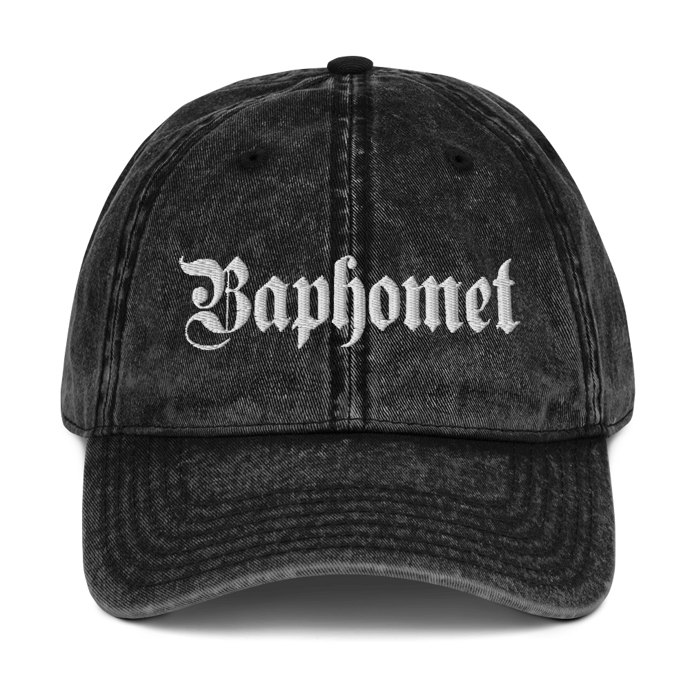 "Featured image for ""Baphomet Gothic - Vintage Cotton Twill Dad Cap"""