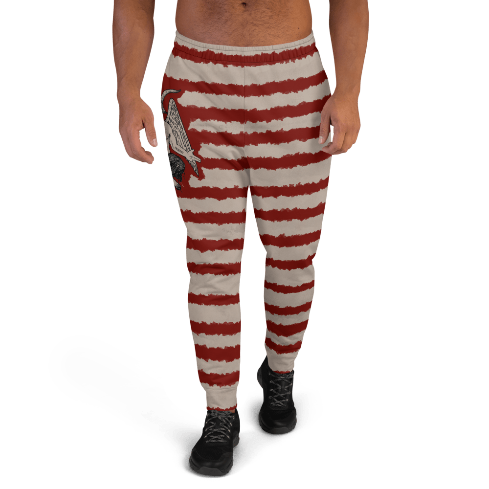 "Featured image for ""Blood Stripe Baphomet - Men's Joggers"""