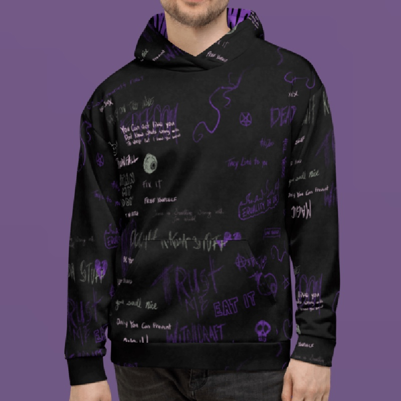 "Featured image for ""Purple Mess - Unisex Hoodie"""