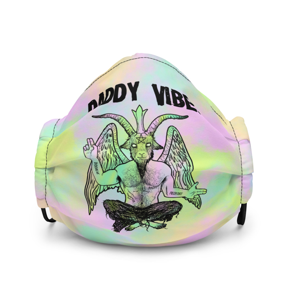 "Featured image for ""Daddy Vibes Baphomet ( Pastel ) Premium face mask"""