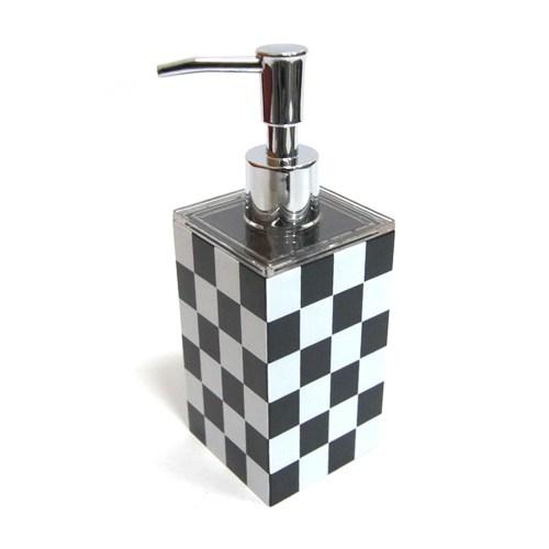 Rectangle Accessories Bath Shower Dispenser Black White