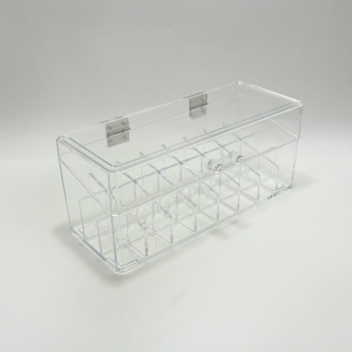 24 Grids Dust-proof Acrylic Cosmetic Organizer with Lid