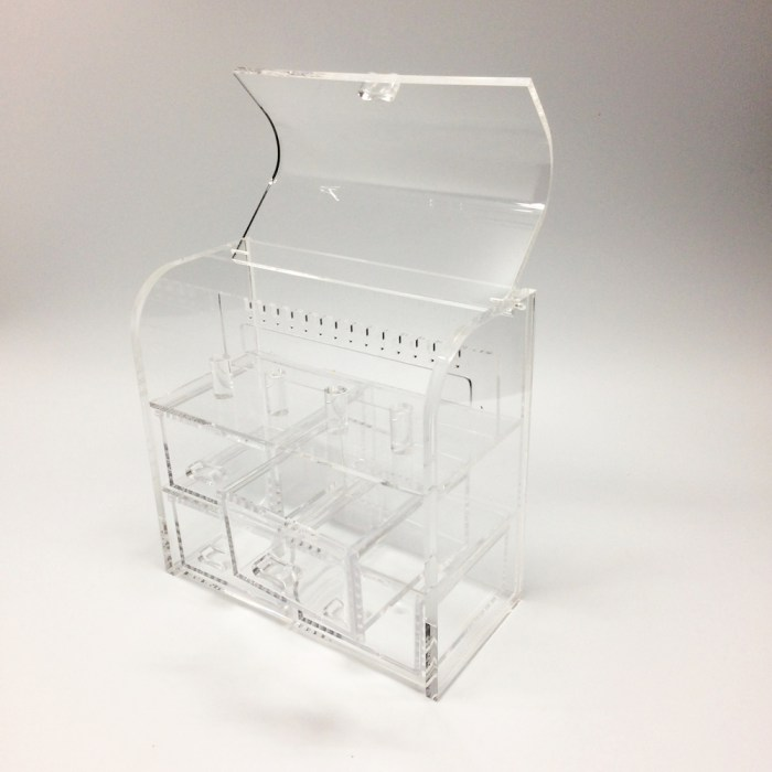 Clamshell Jewelry Storage Box with 4 drawers