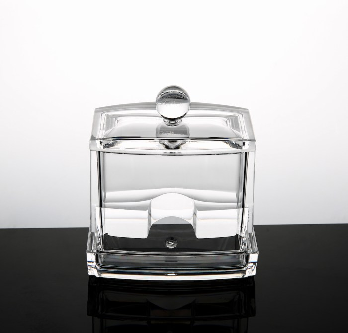 Clear Acrylic Cotton Swabs Storage Box