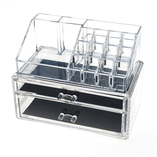 Acrylic Jewelry & Makeup Organizer Series(2 Wide Drawers)