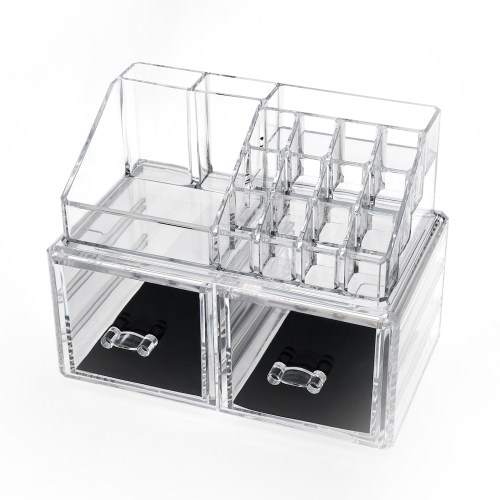 Acrylic Jewelry & Makeup Organizer Series(2 Drawers)