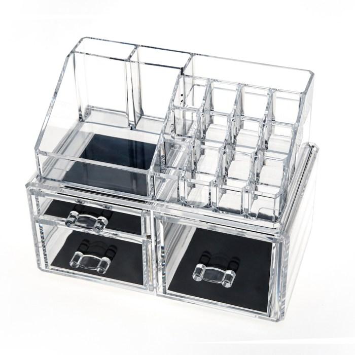 Acrylic Jewelry & Makeup Organizer Series(3 Drawers)