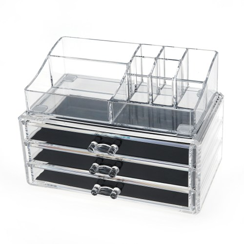 Acrylic Cosmetic Storage Makeup Organizer Series (3 Wide Drawers)