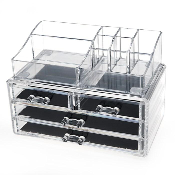 Acrylic Cosmetic Storage Makeup Organizer Series (4 Drawers)