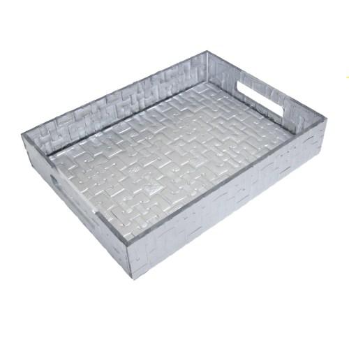 Desktop Silver Acrylic File Organizer