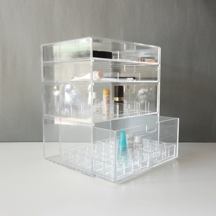 Four Drawers Clear Acrylic Cosmetics&Home Organizer