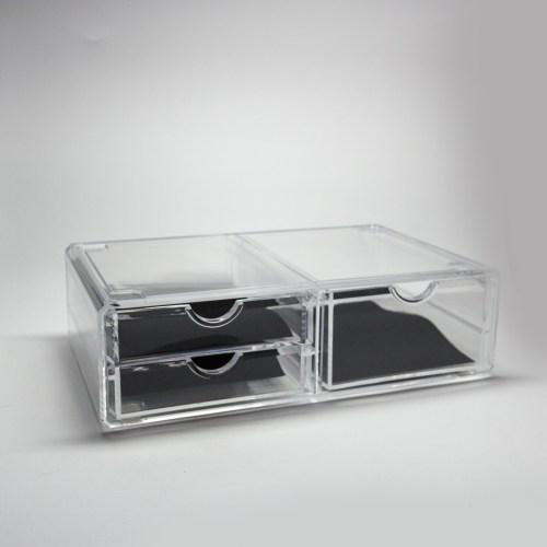 Clear Acrylic Three Drawers Organizer