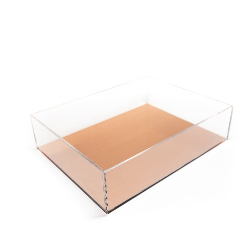 Acrylic Rectangle Tray Rose Gold
