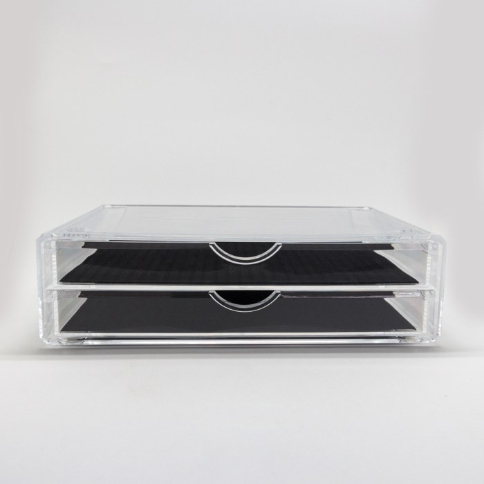 Clear Acrylic Large Two Drawers Organizer