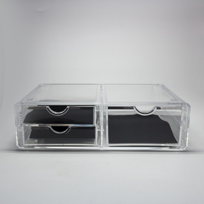Clear Acrylic Three Drawers Organizer