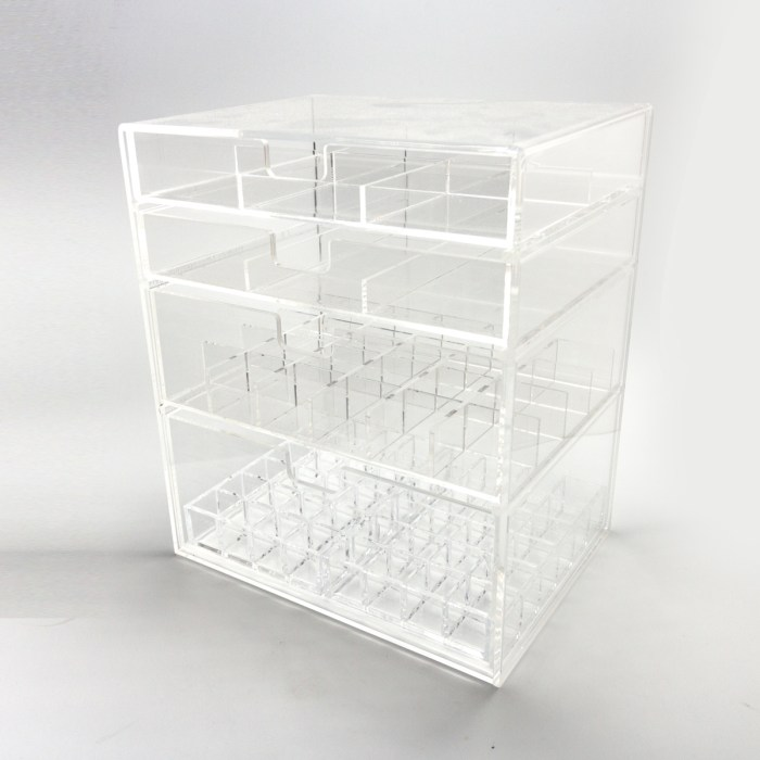 Three Drawers Clear Acrylic Cosmetics&Home Organizer