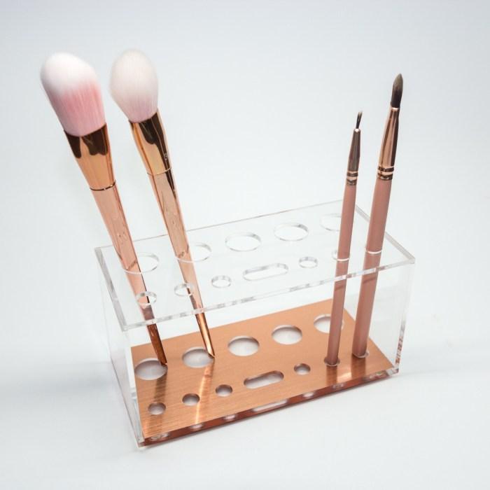 Rose Gold Acrylic Small Brush Holder