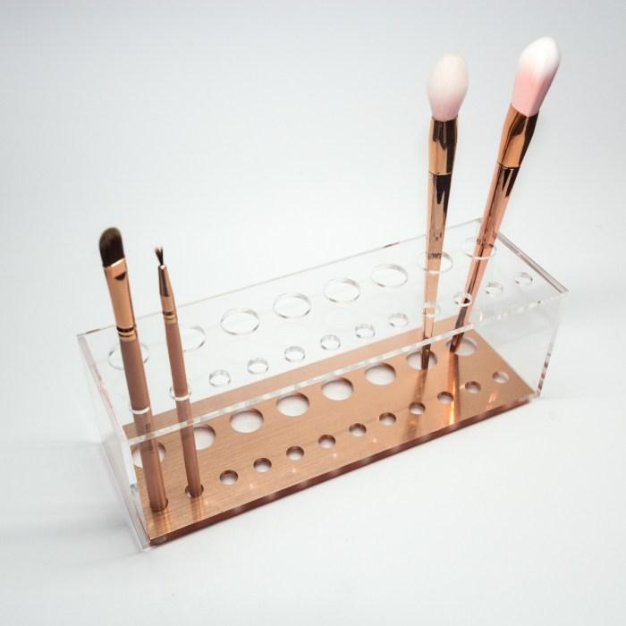 Rose Gold Acrylic Brush Display & Organizer