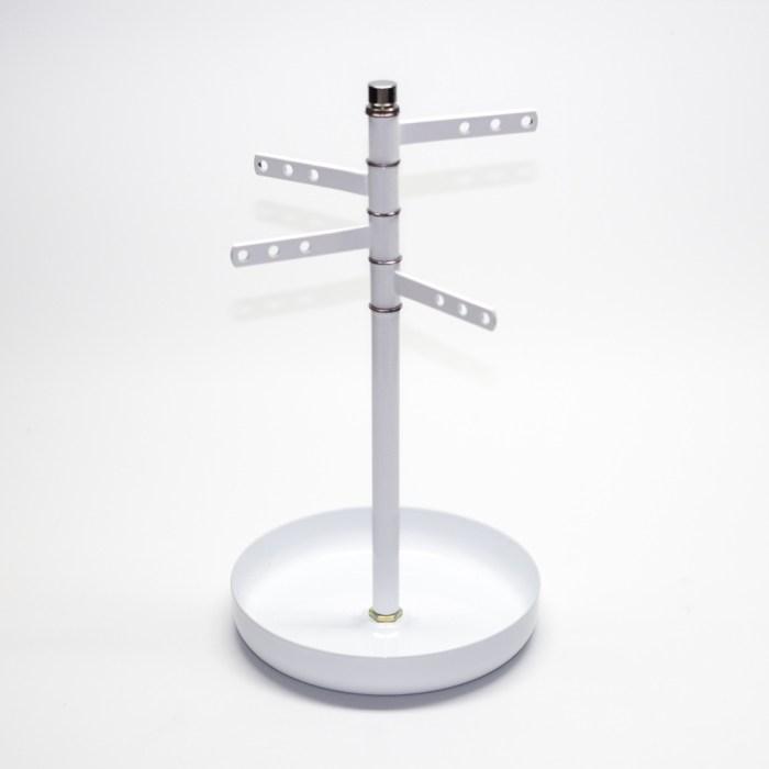 Rotating coating jewelry display tray
