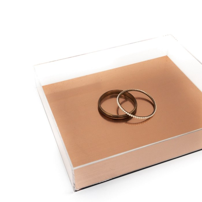Acrylic Tray Rose Gold