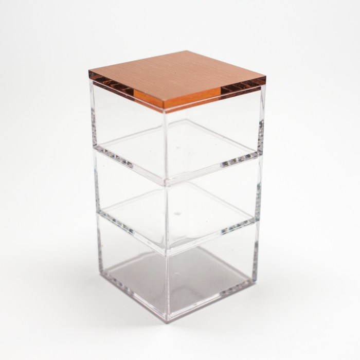 Rose gold 3 Mini Stacked Box