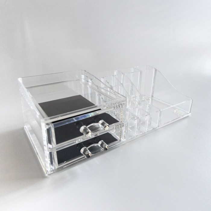 Multi-functional Cosmetic organizer with 2 drawers
