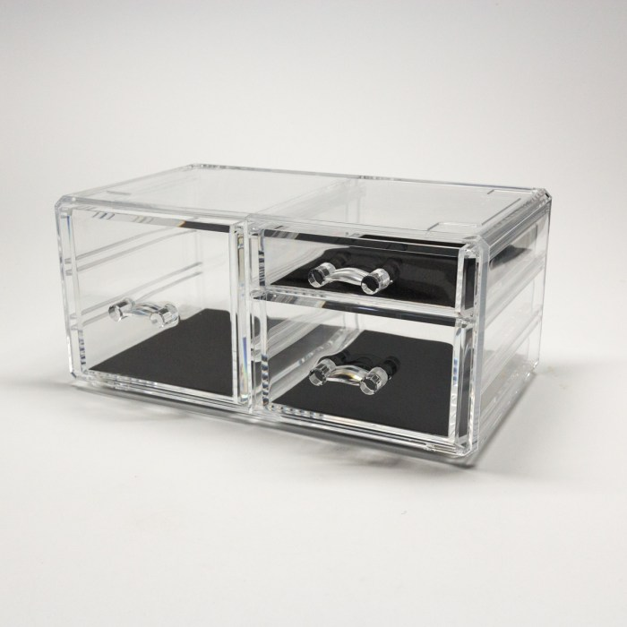 Transparent Multipurpose Storage Box With 3 Drawers