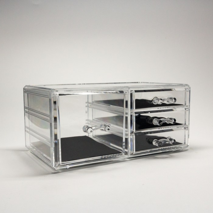 Transparent Multipurpose Storage Box With 4 Drawers