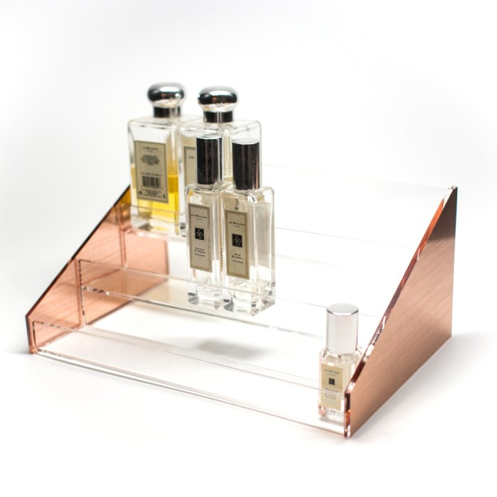 Rose Gold Acrylic 3 Layers Perfume Stand