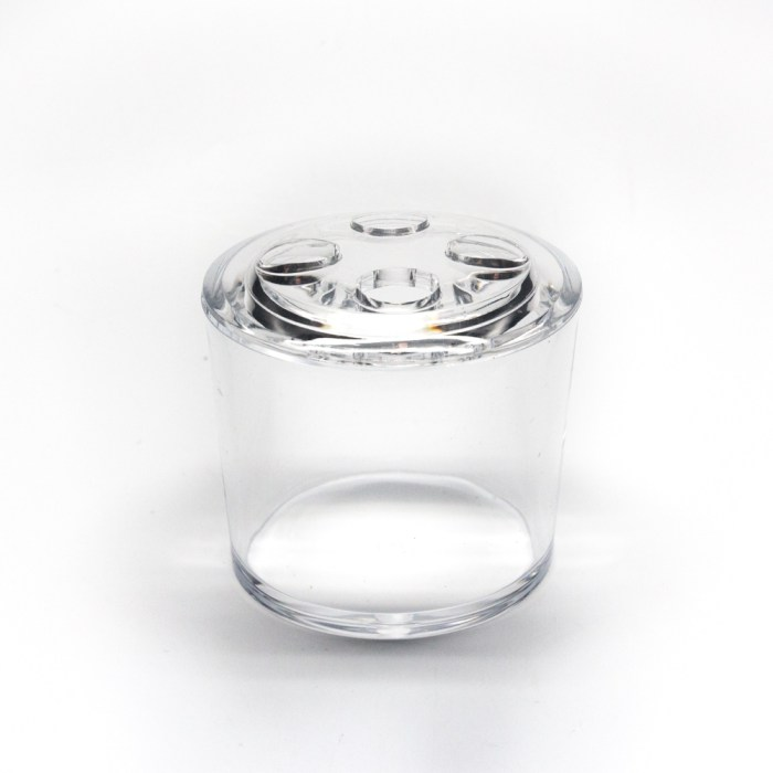 New Clear Acrylic Oval Brush Holder Stand Clear