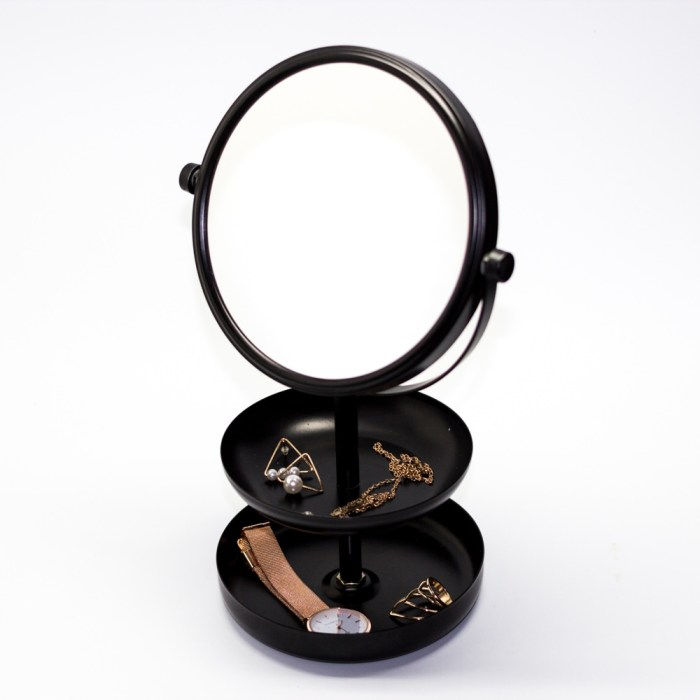 Coating 2 layer jewelry tray with mirror