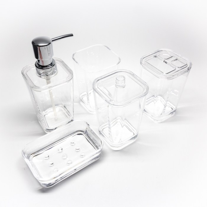 Classic Square Bathroom Organizer 5 Pcs Set